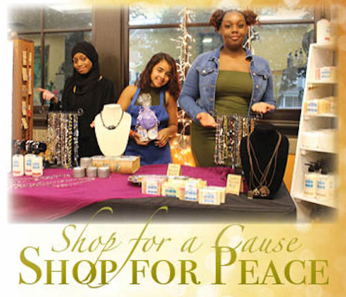 An advertisement for Peace of the City's basket raffle fundraiser