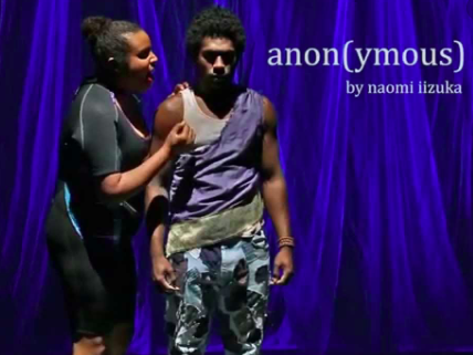 Actors in the Beyond Shakespeare production of Anon(ymous), a modern adaptation of Homer's Odyssey