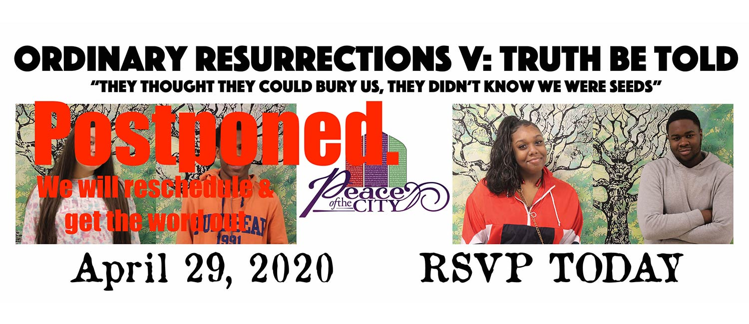News update for the postponement of the Ordinary Resurrections monolouge series