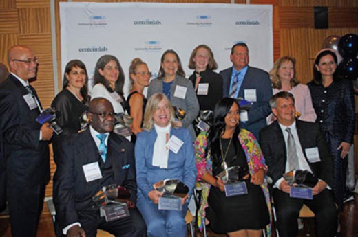 Community Foundation for Greater Buffalo finalists and winners pose for the press