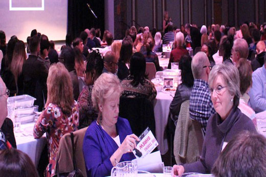 Guests gather at the Peace of the City annual benefit dinner